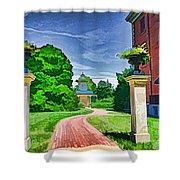 Missouri Botanical Garden Pathway Shower Curtain