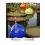 Missouri Botanical Garden Six Glass Spheres And Lilly Pads Img 2464 Shower Curtain