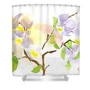 Missouri Dogwood In Watercolor Shower Curtain
