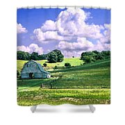 Missouri River Valley Shower Curtain