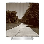 Missouri Route 66 2012 Sepia. Shower Curtain