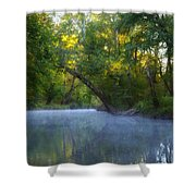 Mist On The Wissahickon Shower Curtain