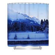 Mist Over Alps Shower Curtain