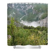 Mist Over Grand Canyon Du Verdon  Shower Curtain