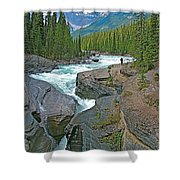 Mistaya Canyon Along Icefield Parkway In Alberta Shower Curtain