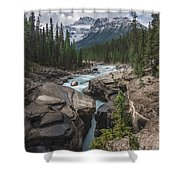 Mistaya River And Canyon Shower Curtain