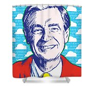 Mister Rogers Pop Art Shower Curtain