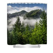 Mists Among The Hills Shower Curtain