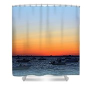 Misty At The Bay Shower Curtain