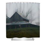 Misty Barn Shower Curtain