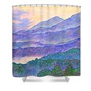 Misty Blue Ridge Shower Curtain