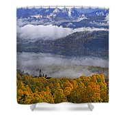 Misty Day In The Cairngorms Shower Curtain