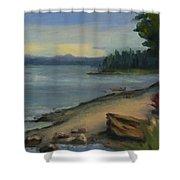 Misty October Puget Sound Shower Curtain