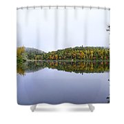 Misty Day Reflection Shower Curtain