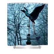 Misty Egret Shower Curtain