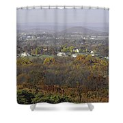Misty Fall Pano Of The Shenandoah Valley Shower Curtain