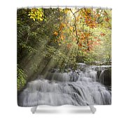 Misty Falls At Coker Creek Shower Curtain