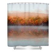Misty Foilage Shower Curtain