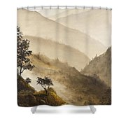 Misty Hills Shower Curtain by Darice Machel McGuire