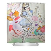 Misty Kay In Wonderland Shower Curtain