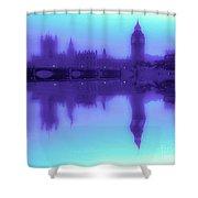 Misty London Reflection Shower Curtain