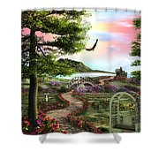Misty Meadow Shower Curtain