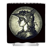 Misty Midnight Black Marianne Shower Curtain