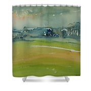 Misty Morning, 1981 Wc On Paper Shower Curtain