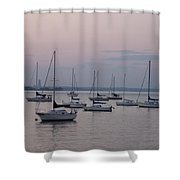 Misty Morning At The Bay Shower Curtain