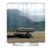 Misty Morning Hanalei Shower Curtain