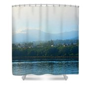 Misty Morning In Port Angeles Shower Curtain