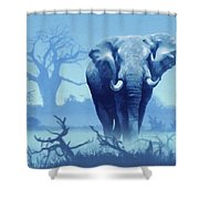 Misty Blue Morning In The Tsavo Shower Curtain