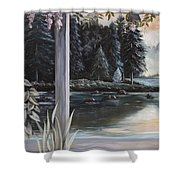 Misty Morning In The Vines 1 Shower Curtain