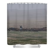 Misty Morning Roundup Shower Curtain