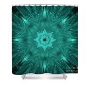 Misty Morning Star Bloom Shower Curtain