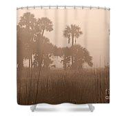 Misty Palmettos Shower Curtain