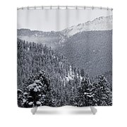 Misty Pikes Peak Shower Curtain