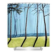Misty Pines Shower Curtain