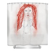 Misty Red Shower Curtain