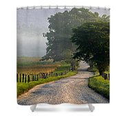 Misty Smoky Mountain Morning Shower Curtain
