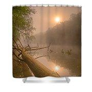 Misty Sun Shower Curtain