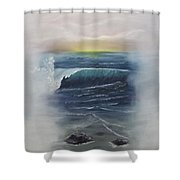 Misty Sun Set Shower Curtain