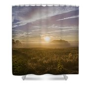Misty Sunrise At Valley Forge Shower Curtain