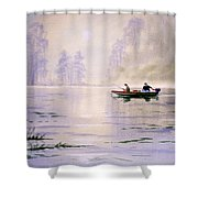 Misty Sunrise On The Lake Shower Curtain