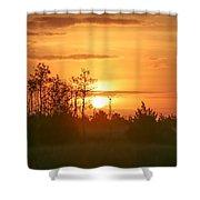 Misty Sunrise Shower Curtain