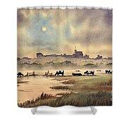 Misty Sunrise - Windsor Meadows Shower Curtain