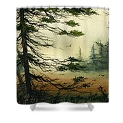 Misty Tideland Forest Shower Curtain by James Williamson