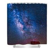 Mitchell Butte Milky Way Shower Curtain
