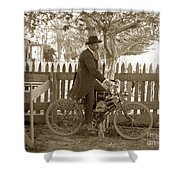 Mitchell Motorcycle Circa 1907 Shower Curtain