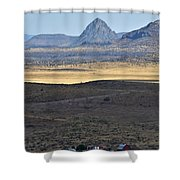 Miter Peak Shower Curtain